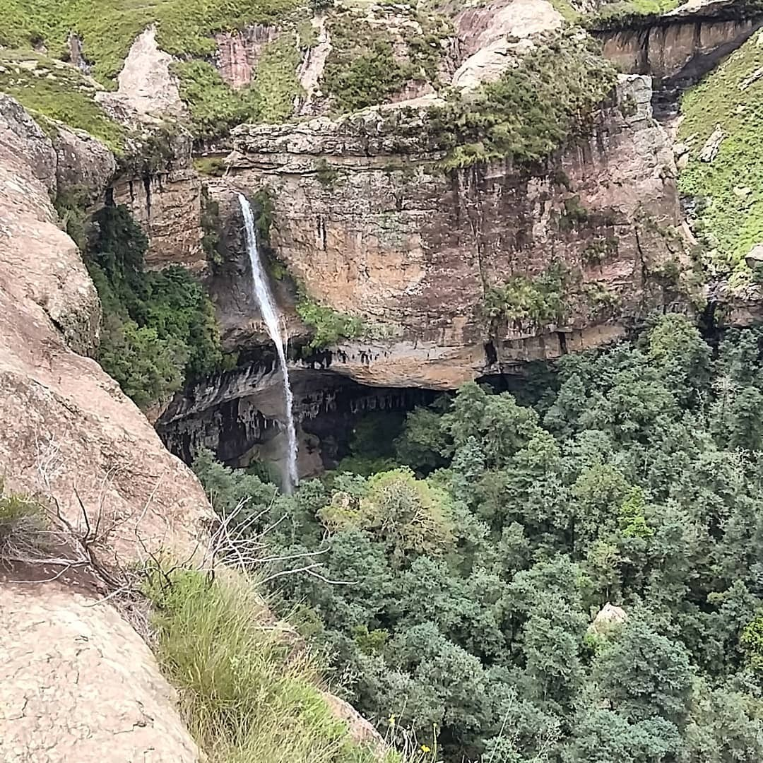 Gudu Falls from Witsieshoek Mountain Lodge