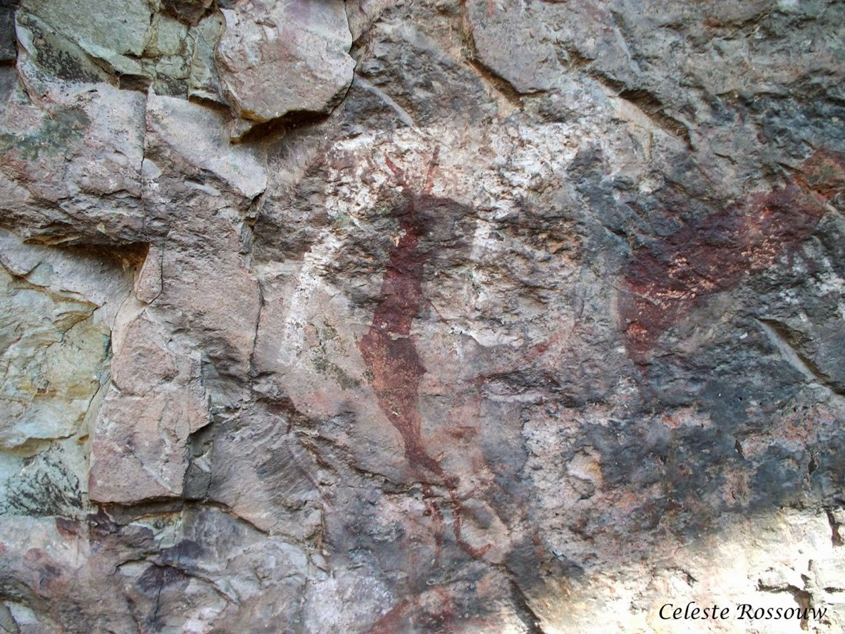 Visiting rock art sites inside Monk's Cowl - Visitor's Book and Permit System
